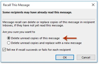 how to delete/recall a sent email before recipients