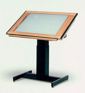 Drafting Table Light Fixtures Drafting Table With Built In Light Box Oh So Many Uses Excellent Add To The Studio Cafe