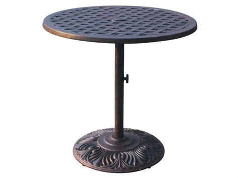 round outdoor dining table darlee outdoor living series 30 cast aluminum antique