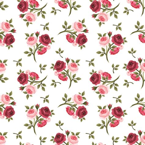 english rose pattern vector vintage roses vector seamless pattern 04 vector flower