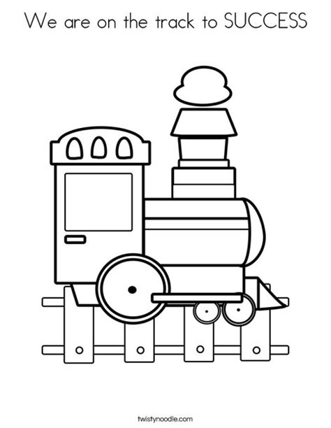 coloring railway tracks coloring pages