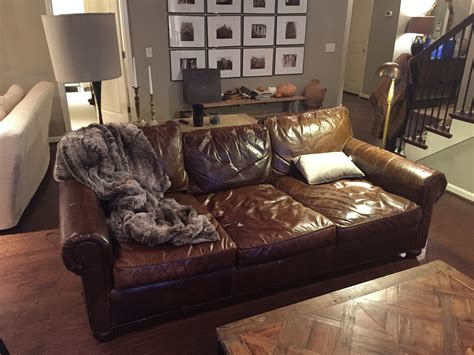 pull up leather sofa restoration hardware leather sofa care sofa the honoroak