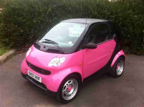 smart car pink smart roadster coupe 05 custom paint job all optional