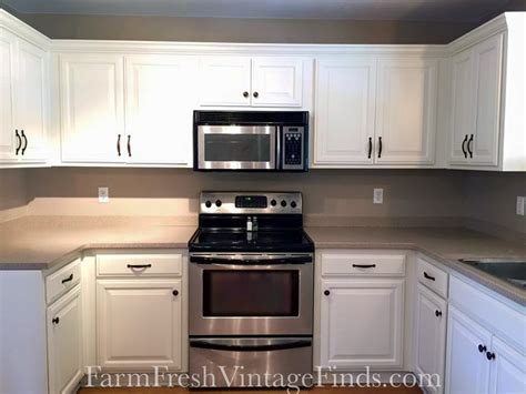gf linen milk painted kitchen cabinets general finishes