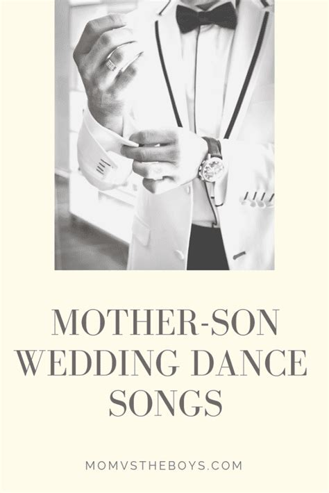 The Best Mother Son Dance Songs for Weddings   Mom vs the Boys