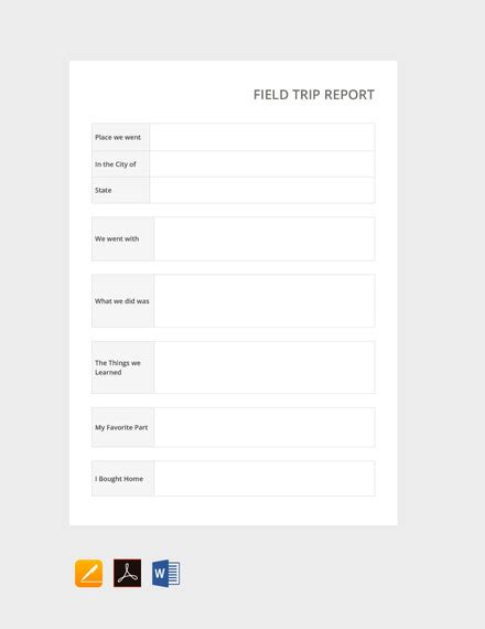 trip report template 11 free word pdf documents