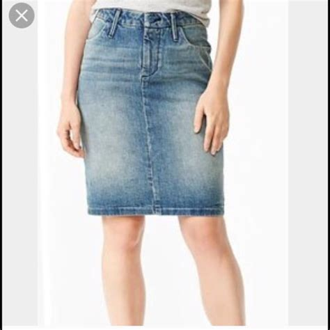 8 gap dresses skirts light blue denim gap pencil