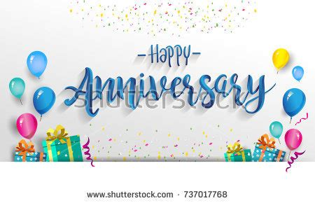 work anniversary card template free happy anniversary typography vector design greeting stock