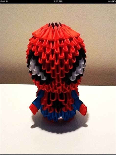3d origami spider man tutorial spiderman album lainy 3d origami art