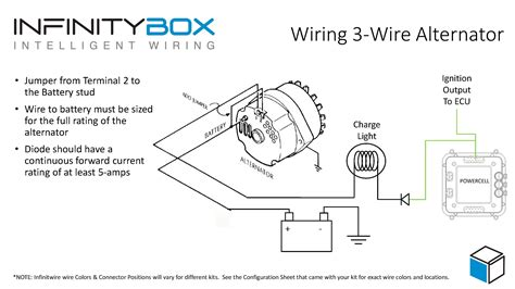 wiring and un wiring the connected home 3 wire alternator infinitybox