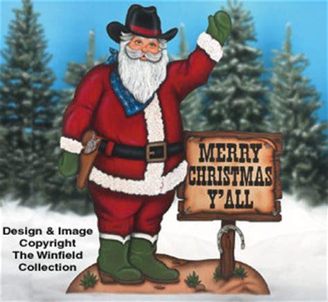 santa elves cowboy santa ii woodcraft pattern