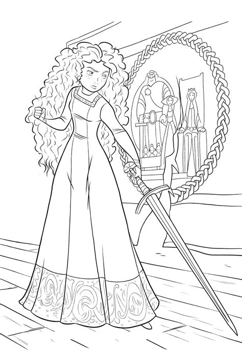 princess merida coloring page brave coloring pages princess merida coloring pages for