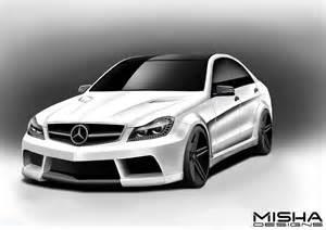 Mercedes C300 Kit Misha Designs New Mercedes C Class Wide Kit