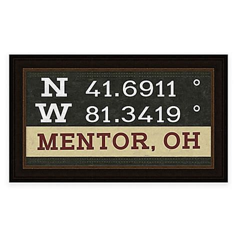 mentor ohio coordinates framed wall art bed bath beyond