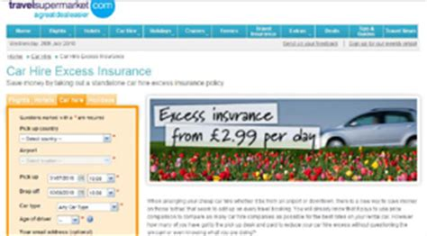 Car Excess Insurance by Car Hire Hire Motorhome Hire Insurance Companies