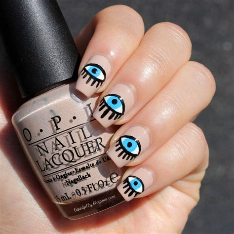 alexa chungs evil eye nail art   paint  themed