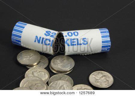 broken roll nickels image photo bigstock