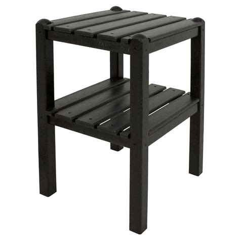 hton bay tobago 19 in patio side table 151 101 19et
