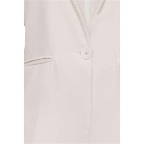 Cathy Jacket Blazer cathy white sleeveless blazer jacket parisia fashion