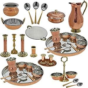 copper dining set india indian traditional copper dinner set wedding