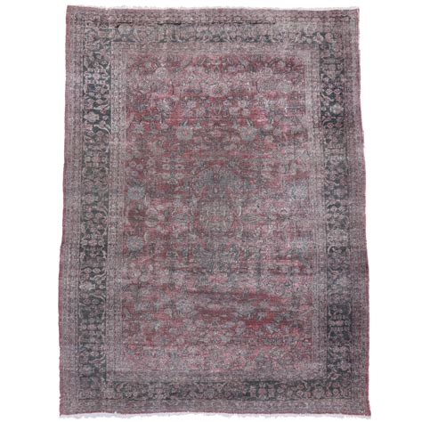 Distressed Area Rug Distressed Antique Tabriz Area Rug For Sale At 1stdibs