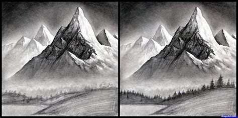 step 14 how to draw a realistic landscape draw realistic