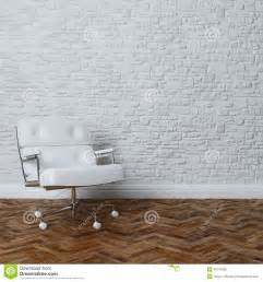 L Shaped Design Floor Plans white brick wall interior with white leather office
