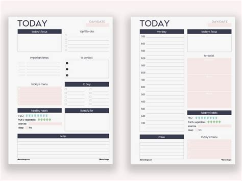 a5 printable agenda two a5 daily planners printable inserts refills also fits