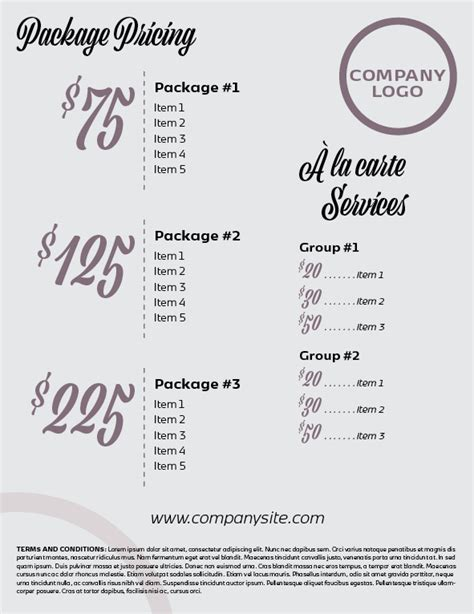 Indesign Template Of The Month Price List Order Form Indesignsecrets Com Indesignsecrets Indesign Price List Template