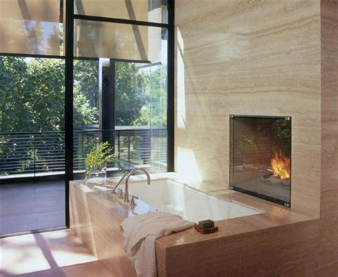Fireplaces Bath by Bathroom Apartment With Fireplace Decor