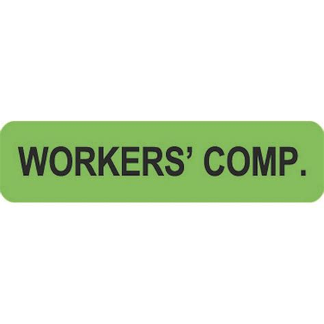 Workers Compensation Florida Search Insurance Labels Workers Comp Fl Green 1 1 4 Quot X 5 16 Quot Roll Of 500