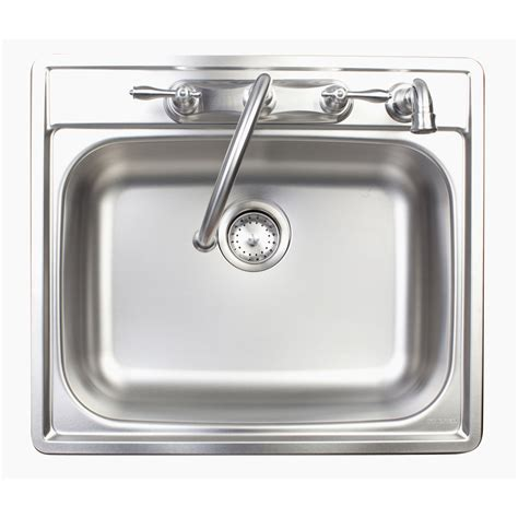 shop franke usa stainless steel single basin drop in