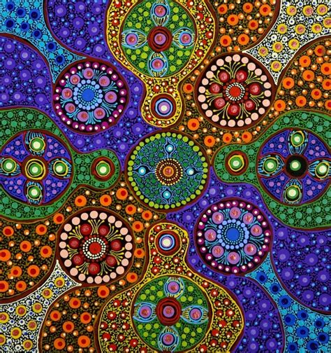 artists pattern of dots untitled by marie hayes at aboriginal art directory