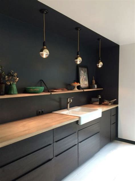 cuisine mur noir id 233 es d 233 co avec du noir sur les murs
