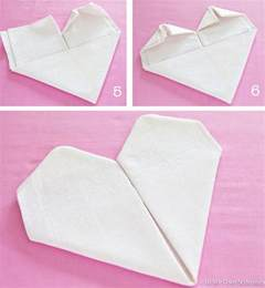 valentine s table easy heart shaped napkin fold in my