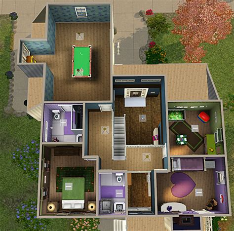 4 bed 3 bath house my sims 3 blog 4 bedroom 3 bath house by chellemh29