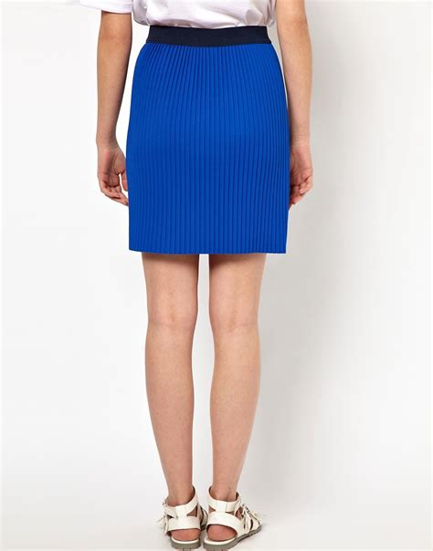 bzr bzr scuba pleated skirt at asos