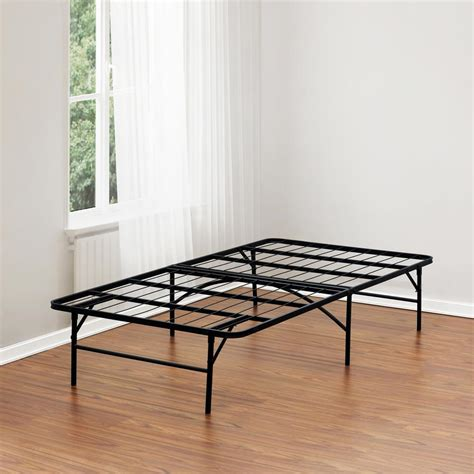 metal size bed frame furinno angeland metal bed frame fb001t the home depot