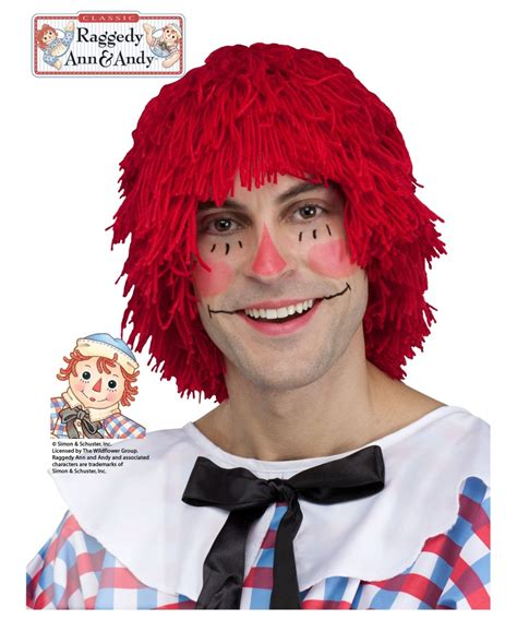 wig makeover for men raggedy andy mens wig men costume