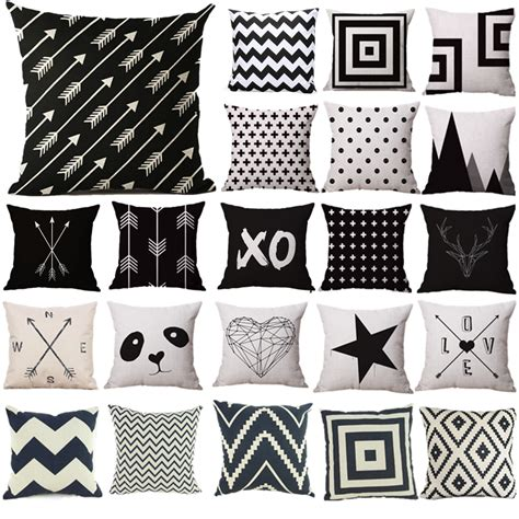 sewing pattern for 18 x 18 pillow pillow case black and white pattern pillowcase cotton