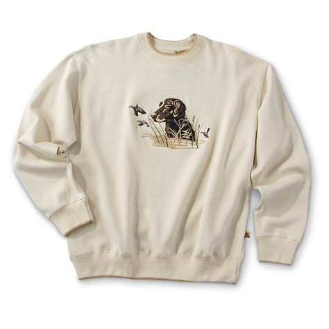 outdoor life 174 embroidered wildlife sweatshirt 149378 sweatshirts amp hoodies at sportsman s guide