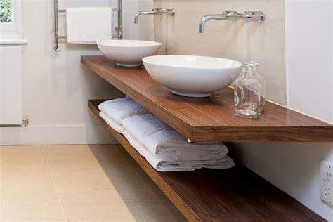 Bathroom Sink Shelves Floating Floating Basin Counter Top Bespoke Nature