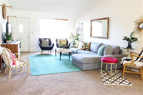 colorful living room decor colorful mid century glam living room makeover