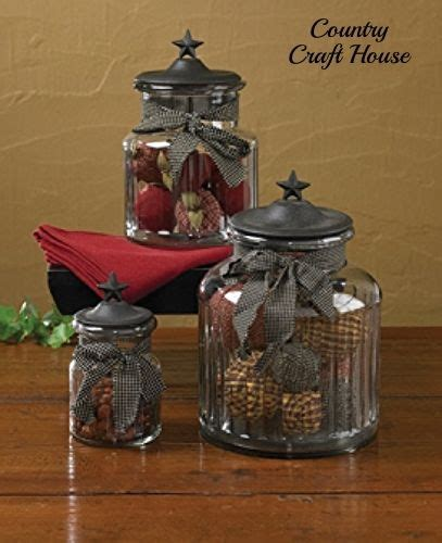 primitive kitchen canister sets new primitive country kitchen black star glass canister