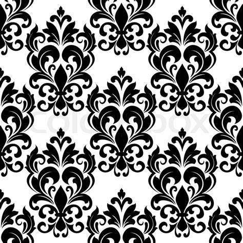 vintage pattern black and white vector black and white vintage floral seamless pattern background