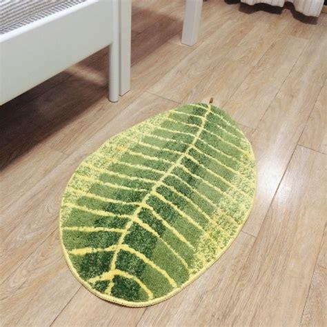 Leaf Shaped Rug by Green Leaf Shaped Door Mat 45 75cm 45 120cm Leaf Shaped