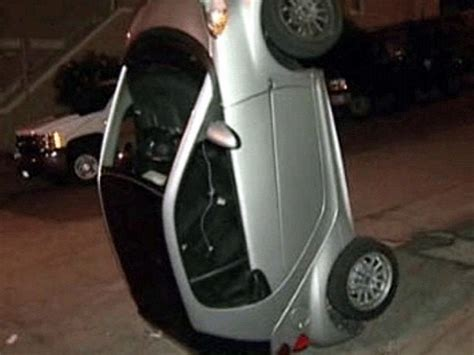tipping smart cars flipping smart cars is the criminal trend in