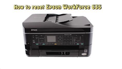 reset epson printer to default reset epson workforce 635 waste ink pad counter youtube
