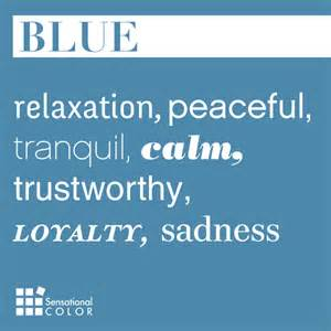 meaning of color blue words that describe blue sensational color
