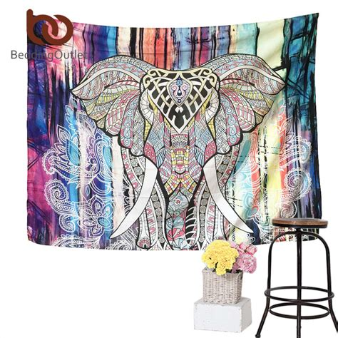 130x150cm Elephant Tapestry Colored Printed Decorative 6 wall to wall carpet reviews shopping wall to wall